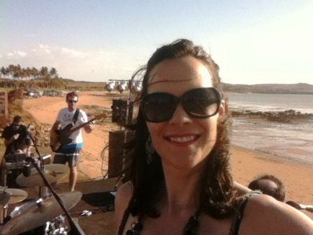 Soundchecking on the beach